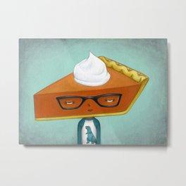 Pie Curious - Pumpkin Pie Metal Print