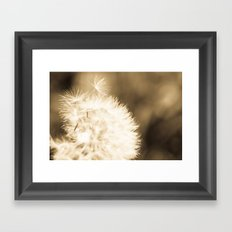 Dandelion Breeze Framed Art Print