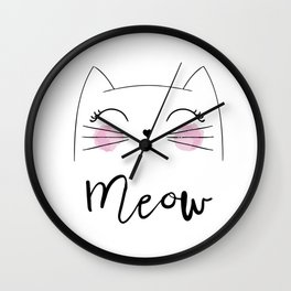 Meow 2 Wall Clock