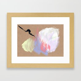 Always Drama - modern abstract minimal Framed Art Print