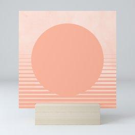 The Sweet Life Collection - Peach Coral Sun Gradient Mini Art Print