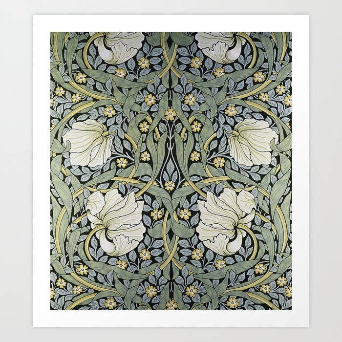 Pimpernel Wallpaper Design By William Morris Art Print By Asarstudios