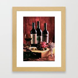 Bordeaux and Brie! Framed Art Print