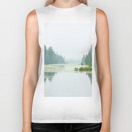 Foggy lake Biker Tank