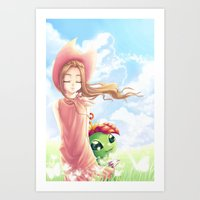 digimon Art Prints featuring Digimon Dream Mimi by valsharea