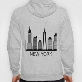 new york skyline Hoody