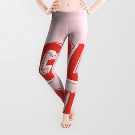 GRL PWR - Girl Power 10 (in Red) Leggings