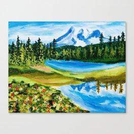 Mt. Rainier Reflections Lake Canvas Print