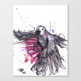 Flappy grey Canvas Print