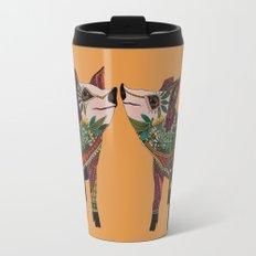 pig love amber Travel Mug