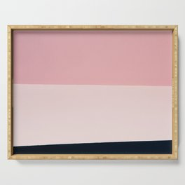 Pink & Naval & Rose Abstract Background Serving Tray