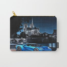SUPERCAR IN PARIS AT NIGHT Carry-All Pouch