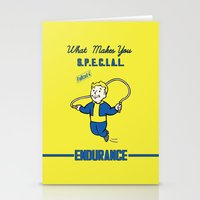 fallout Stationery Cards featuring Endurance S.P.E.C.I.A.L. Fallout 4 by sgrunfo