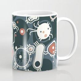 Eukaryotes (dark blue, white and orange) Coffee Mug