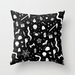 SPOOKY HALLOWEEN! - PATTERN Throw Pillow