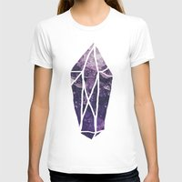 geode T-shirts featuring Amethyst Gem Dreams by Leah Flores