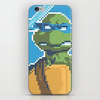 teenage mutant ninja turtles iPhone & iPod Skins featuring Teenage Mutant Ninja Turtles - Leonardo by James Brunner
