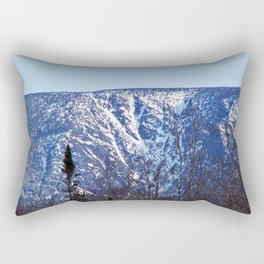 Mountain Crevasses Rectangular Pillow