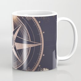 Rose Gold Compass Forest Coffee Mug