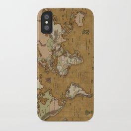 World Treasure Map iPhone Case