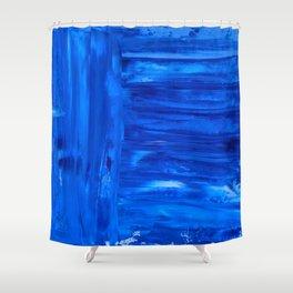 blue canvas azul Shower Curtain