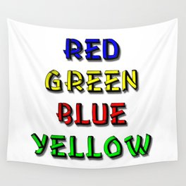 Red Green Blue Yellow Brain Teaser Wall Tapestry