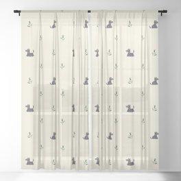 Scottie Dogs Sheer Curtain