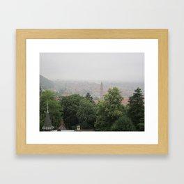 the red city Framed Art Print