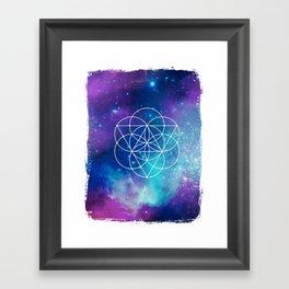Egg Of Life Metaphysical Galaxy Framed Art Print