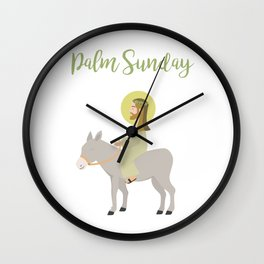 Jesus Riding Donkey Palm Sunday Wall Clock