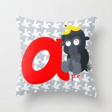a for ape Throw Pillow