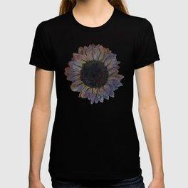 Linework Pastel Sunflower Drawing T-shirt