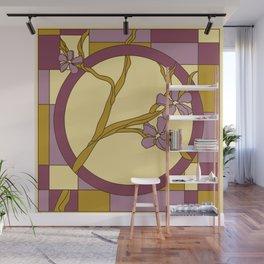 Lilac modern art nouveau flowers Wall Mural