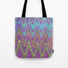 kat - retro wave design pink purple lime turquioise Tote Bag