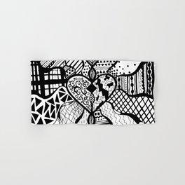 Free Hand Drawn Heart with Random Patterns Hand & Bath Towel