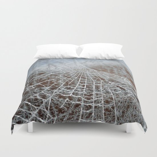 Snowed up Web  Duvet Cover