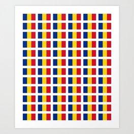 Flag of romania-romania,romanian,balkan,bucharest,danube,romani,romana,bucuresti Art Print