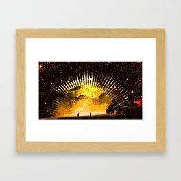 nebula beach walk Framed Art Print