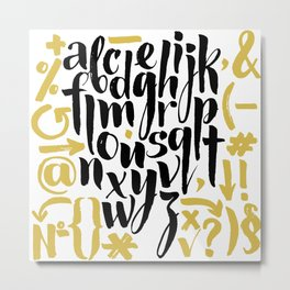 Vector alphabet Metal Print