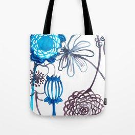 Blue-Seeded Tote Bag