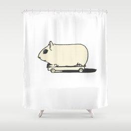 Skate Hamster Shower Curtain