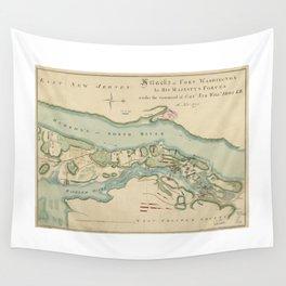 Attacks of Fort Washington Map (November 16, 1776) Wall Tapestry