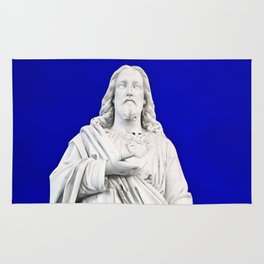 Jesus Twilight Statue Rug