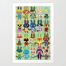 Rabbit Crossing Art Print