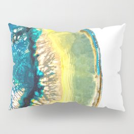 Blue and Yellow Agate Pillow Sham