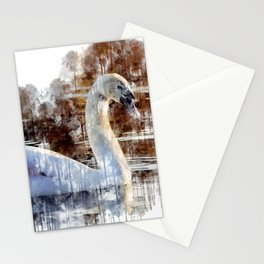 Swan Painting Stationery Cards