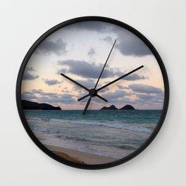 Beachside Mornings Wall Clock