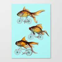 fish Canvas Prints featuring fish by Кaterina Кalinich