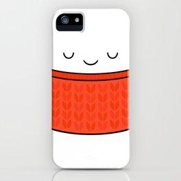 Keep warm, drink tea! iPhone Case