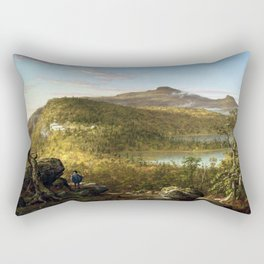 Thomas Cole A View of the Two Lakes and Mountain House, Catskill Mountains, Morning (1844) Rectangular Pillow